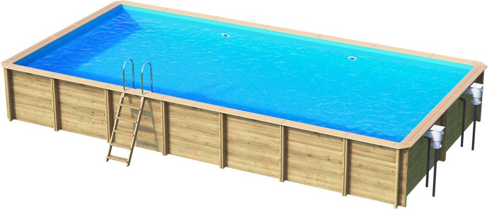 Holzpool Rocta8x4 Schwimmbecken Blockbohlen Bausatz Swimmingpool Gartenpool