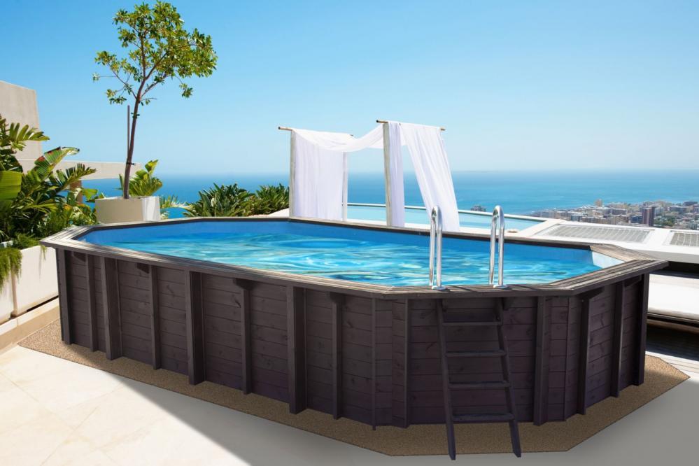 holz swimmingpools zum aufstellen im garten kaufen im holz online shop. Black Bedroom Furniture Sets. Home Design Ideas