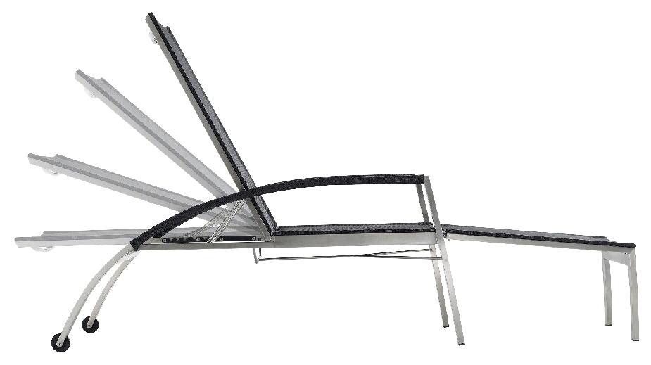 Liegestuhl design  HENRIK BOSSE Deck Chair Key West Liegestuhl und Fußteil Edelstahl ...