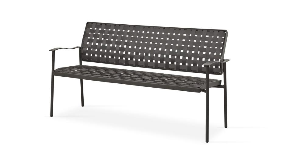 gartenbank fischer nizza bank 3 sitzer aluminiumbank. Black Bedroom Furniture Sets. Home Design Ideas