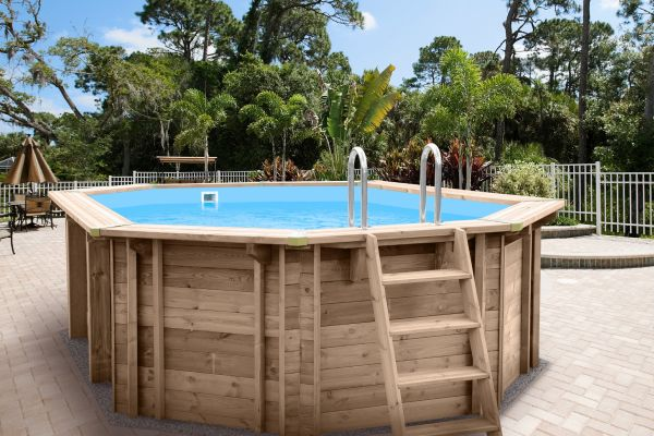 gartenpool holz pool im garten holz swimmingpools fur den. Black Bedroom Furniture Sets. Home Design Ideas