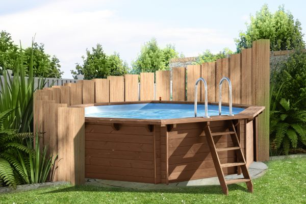 gartengestaltung mit holz und pool. Black Bedroom Furniture Sets. Home Design Ideas