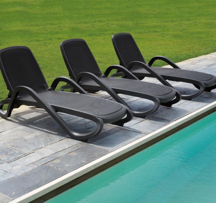 gartenliege nardi alfa wei wei liege poolliege kunststoffliege textilene vom. Black Bedroom Furniture Sets. Home Design Ideas