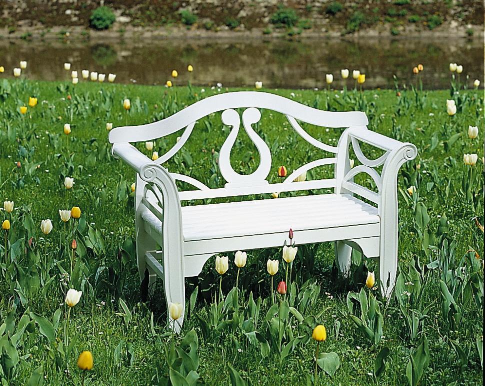 gartenbank herrenhaus michelle 2er bank holzbank parkbank kaufen im holz online shop. Black Bedroom Furniture Sets. Home Design Ideas