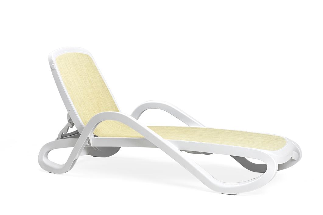 gartenliege nardi alfa wei beige liege poolliege. Black Bedroom Furniture Sets. Home Design Ideas