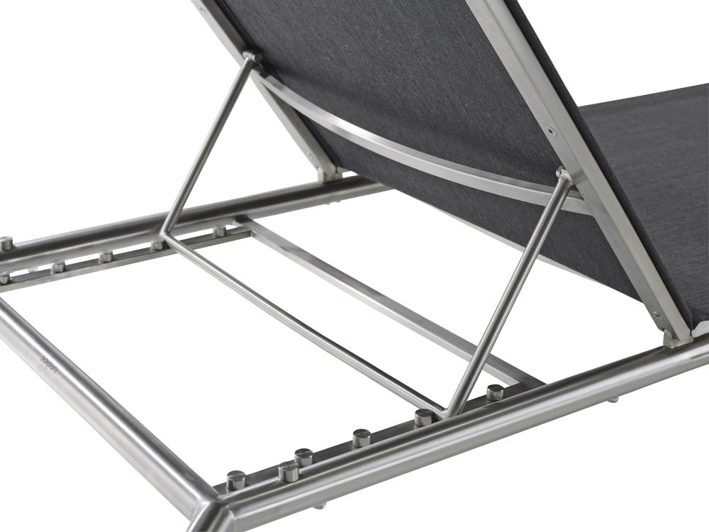sitzgruppe solpuri jardin schaukelstuhl hocker anthrazit edelstahl textilene vom. Black Bedroom Furniture Sets. Home Design Ideas