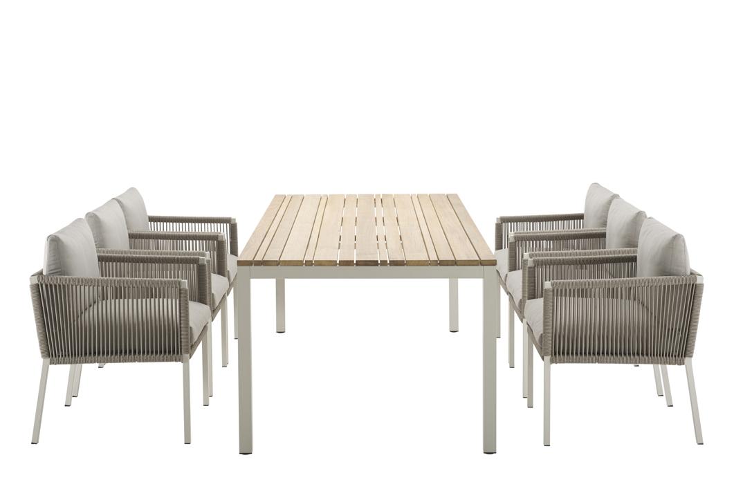 gartenstuhl solpuri club dining sessel taupe aluminium mit kissen vom swimmingpool fachh ndler. Black Bedroom Furniture Sets. Home Design Ideas