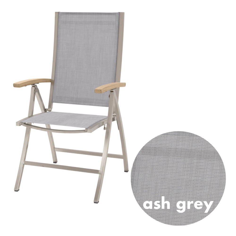 gartenstuhl 4seasons nexxt hochlehner ash grey klappsessel teak armlehnen kaufen im holz. Black Bedroom Furniture Sets. Home Design Ideas