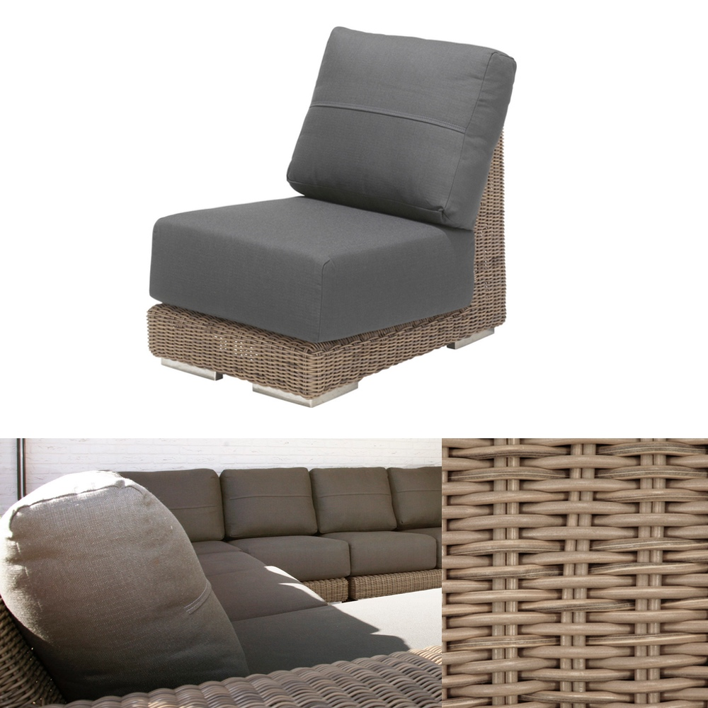 Gartenstuhl 4seasons kingston pure loungemodul for Stahlwandbecken holzoptik