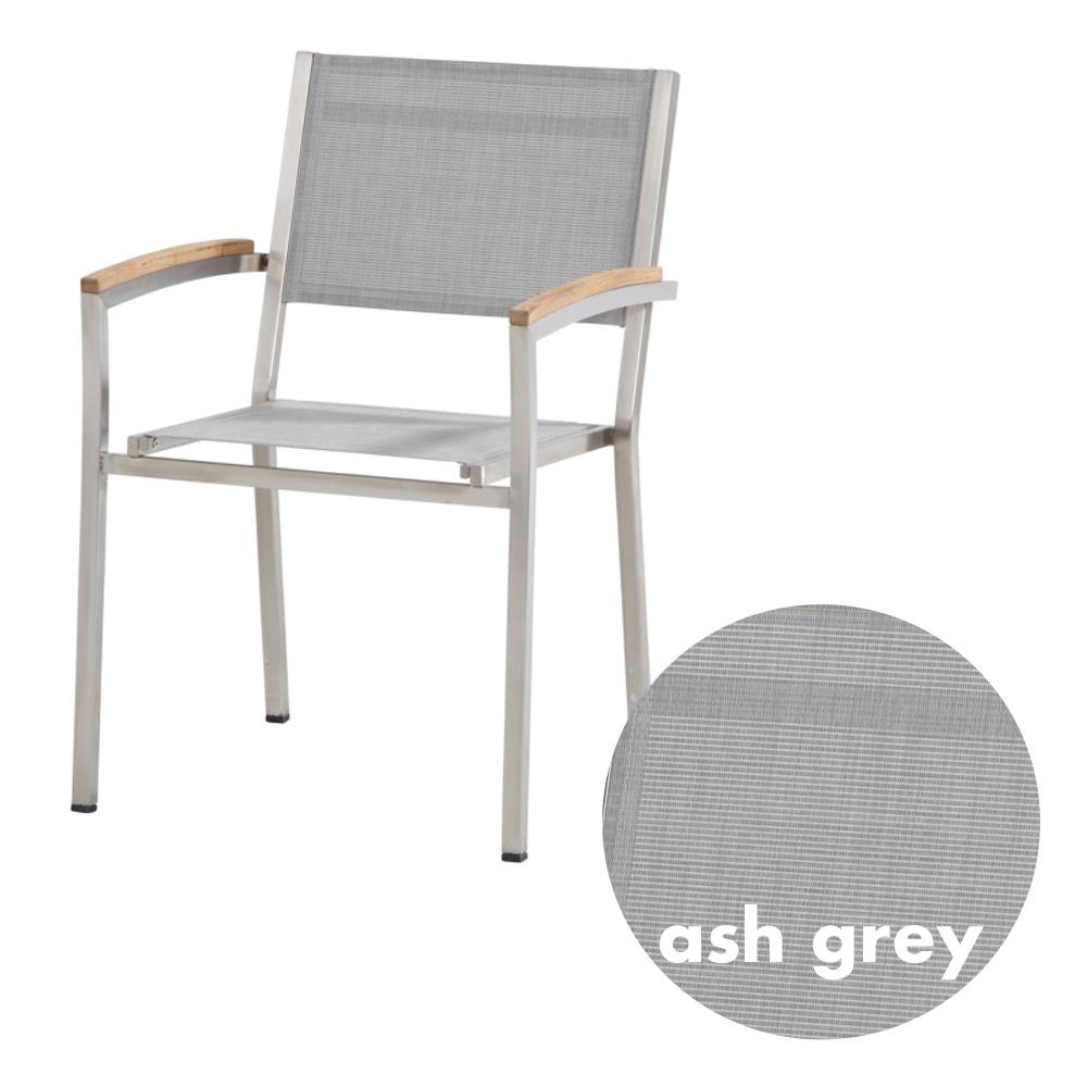 Gartenstuhl 4seasons nexxt stapelsessel ash grey edelstahl textilene vom swimmingpool - Swimmingpool edelstahl ...