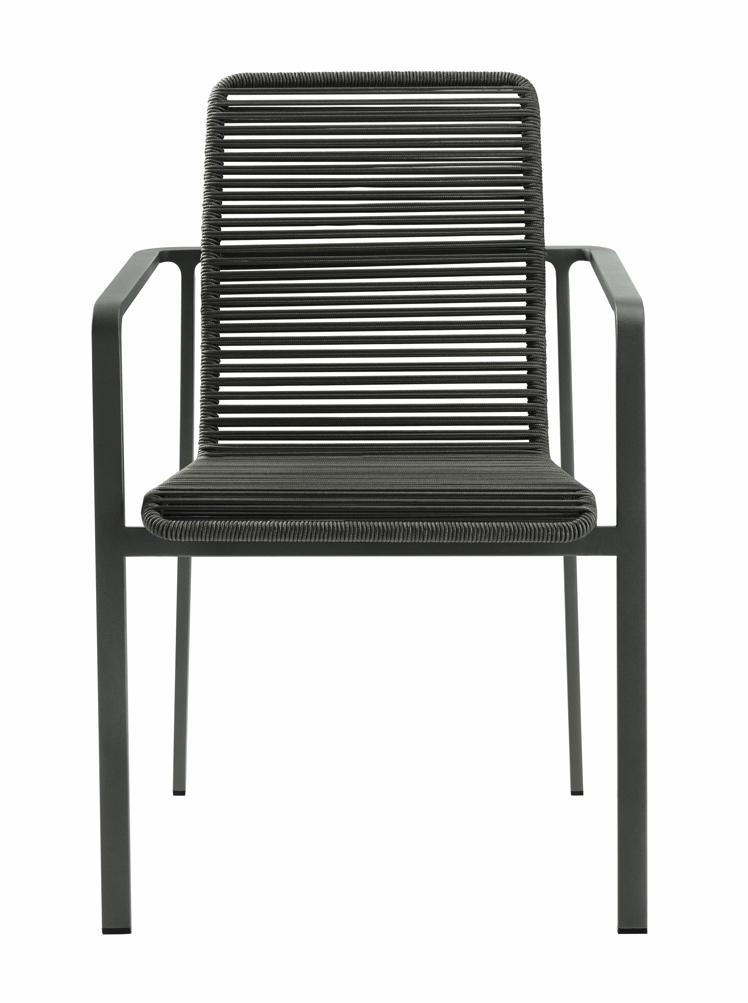 gartenstuhl solpuri jazz stapelsessel anthrazit edelstahl string flex vom swimmingpool. Black Bedroom Furniture Sets. Home Design Ideas