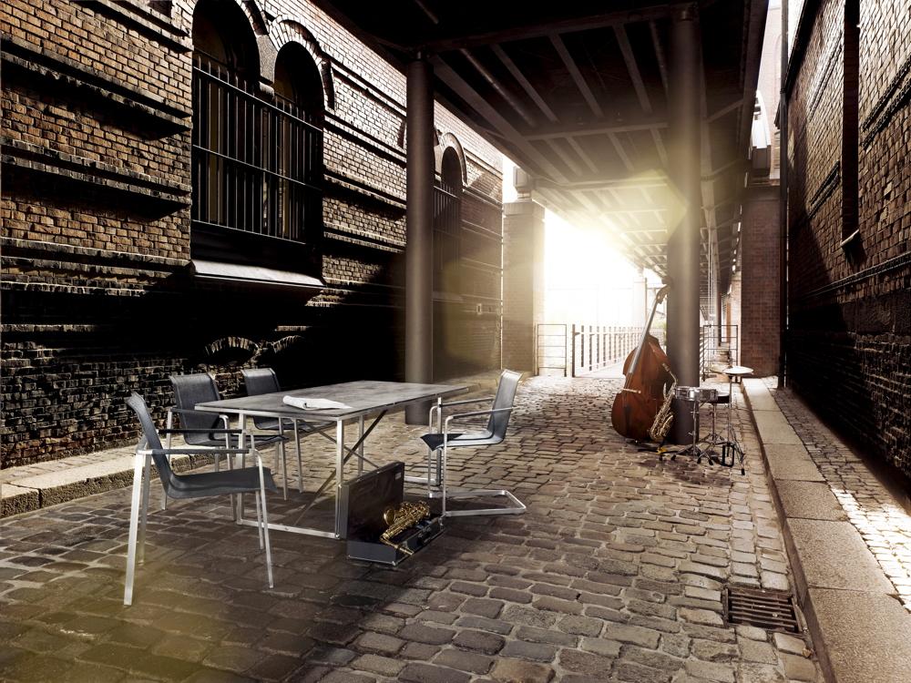 gartenstuhl solpuri jazz stapelsessel anthrazit edelstahl textilene vom swimmingpool. Black Bedroom Furniture Sets. Home Design Ideas