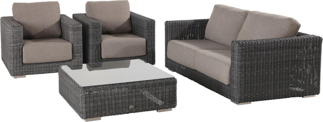 polyrattan gartentisch 4seasons somerset couchtisch mit. Black Bedroom Furniture Sets. Home Design Ideas