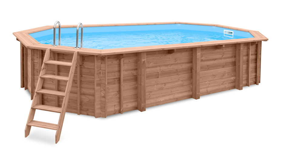holzpool 7x4m schwimmbecken 8 eck pool holz bausatz. Black Bedroom Furniture Sets. Home Design Ideas
