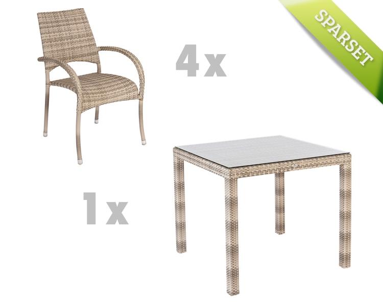 gartentisch alexander rose ocean fiji pearl esstisch. Black Bedroom Furniture Sets. Home Design Ideas