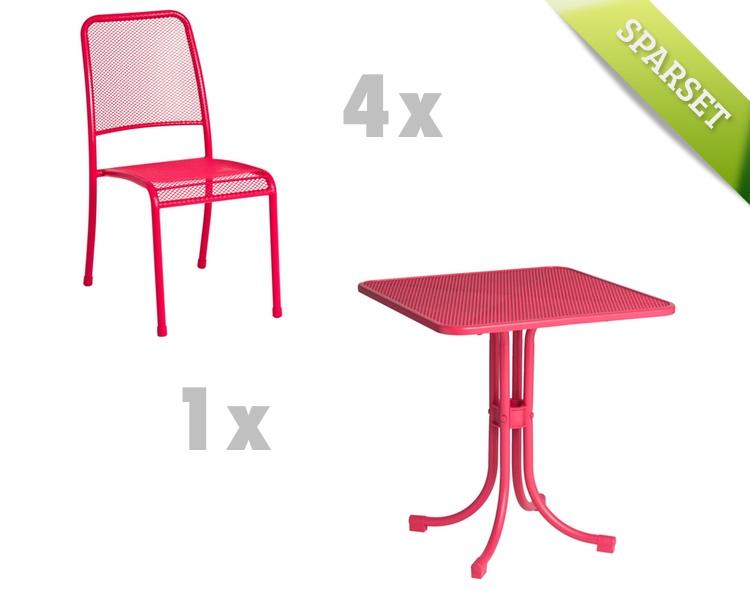 Gartentisch alexander rose portofino 70x70 pink for Esstisch 70x70 holz