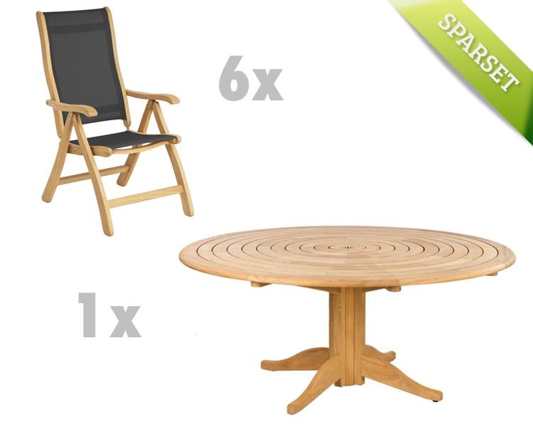 gartenstuhl alexander rose roble textilene hochlehner. Black Bedroom Furniture Sets. Home Design Ideas
