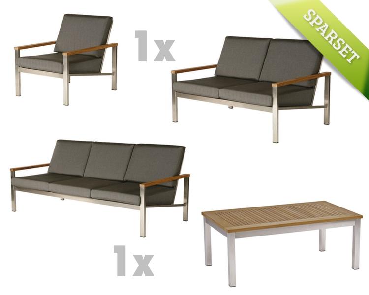 gartenmobel set edelstahl holz, sitzgruppe barlow tyrie «equinox lounge set 1» edelstahl gartenmöbel, Design ideen