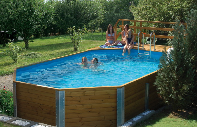 holzpool weka korfu schwimmbecken aus holz swimmingpool poolbausatz kaufen im holz. Black Bedroom Furniture Sets. Home Design Ideas
