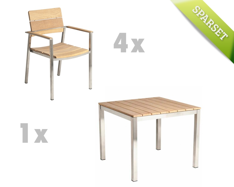 sitzgruppe alexander rose cologne roble gartenm bel set 1 holzm bel kaufen im holz. Black Bedroom Furniture Sets. Home Design Ideas