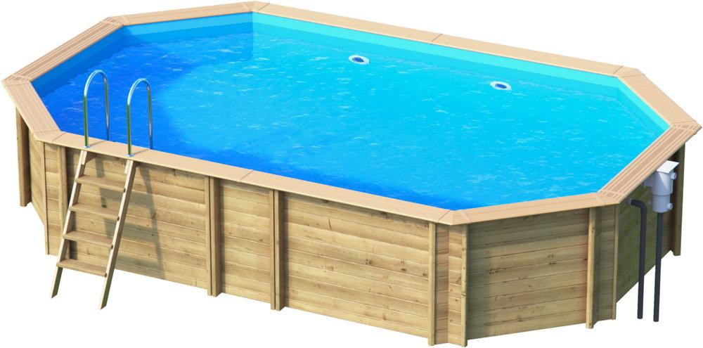 Holzpool oval schwimmbecken blockbohlen bausatz for Gartenpool oval