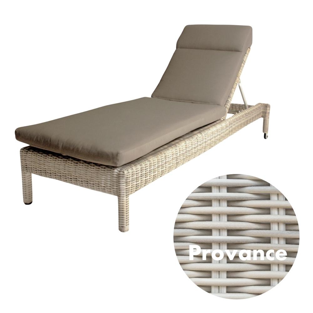gartenliege 4seasons mambo provance stapelliege rattan mit auflage korbliege vom. Black Bedroom Furniture Sets. Home Design Ideas