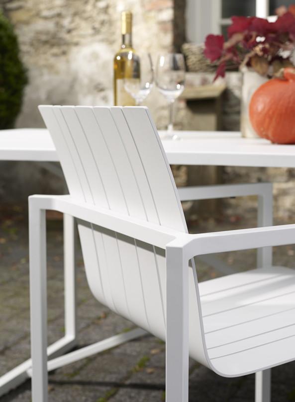 gartenstuhl solpuri pure aluminium stapelsessel wei. Black Bedroom Furniture Sets. Home Design Ideas