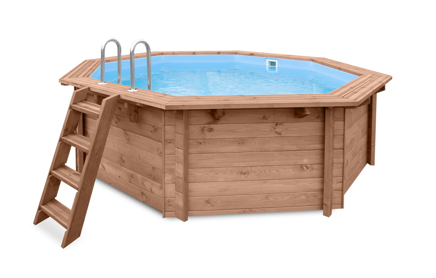 holzpool garten schwimmbecken aus holz aufstell swimmingpool gartenpool vom. Black Bedroom Furniture Sets. Home Design Ideas
