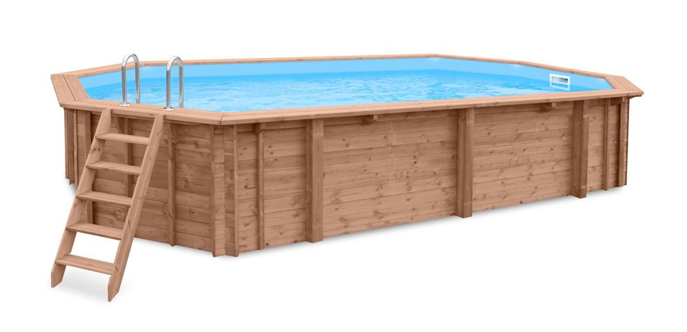 Holzpool schwimmbecken blockbohlen bausatz for Swimmingpool aus plastik