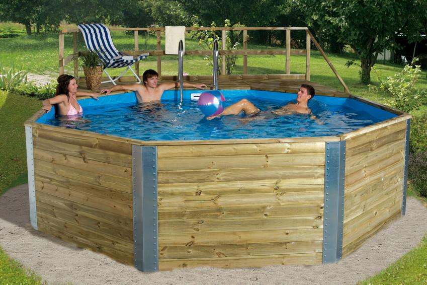 Großartig Holzpool WEKA Kreta - Schwimmbecken aus Holz, Swimmingpool  VC77