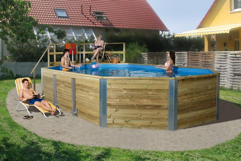 holzpool weka korfu schwimmbecken aus holz swimmingpool. Black Bedroom Furniture Sets. Home Design Ideas